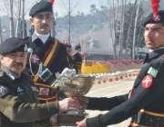 سوات: آئی جی ایف سی خیبر پختونخوا لیاقت علی خان کانجو کیمپ میں پاسنگ ..