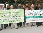 لاہور: سول سوسائٹی کے زیر اہتمام پی آئی اے کی مجوزہ نجکاری کے خلاف پریس ..
