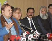 لاہور: سابق وزیر اعظم آزاد کشمیر اور پی ٹی آئی آزاد کشمیر کے صدر بیرسٹر ..