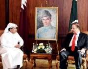 دوحہ: وزیر اعظم محمد نواز شریف سے قطر انویسٹمنٹ اتھارٹی کے چیف ایگزیکٹو ..