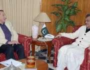 اسلام آباد: وفاقی وزیر غلام مرتضیٰ خان جتوئی سے گرنر گلگت بلتستان میر ..