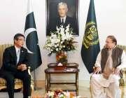 اسلام آباد: وزیر اعظم نواز شریف سے جاپان کے سفیر ہیروشی انوماتاالوداعی ..