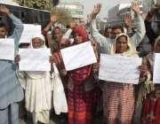 لاہور: جلال پور بھٹیاں کے رہائشی مقامی زمیندار کی طرف سے زمین پر قبضے ..