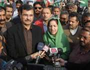 لاہور: پیپلز پارٹی کے زیر اہتمام پریس کلب کے باہر آزاد کشمیر میں کارکن ..