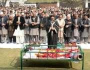 لاہور: تحریک انصاف کے رہنما حامد معراج کی والدہ مرحومہ کی نماز جنازہ ..