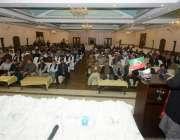 لاہور: تحریک انصاف کے رہنما عبدالعلیم خان حلقہ این اے 128میں ظہیر عباس ..