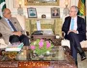 لاہور: گورنر پنجاب ملک محمد رفیق رجوانہ سے سپین کے سفیر کارلوس سیزرمورالز ..