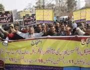 لاہور: آل پاکستان ڈرافٹس مین فیڈریشن پنجاب اریگیشن مغلپورہ یونٹ کے ..