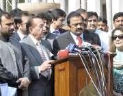 لاہور: صوبائی وزیر قانون و پارلیمانی امور رانا ثناء اللہ پنجاب اسمبلی ..
