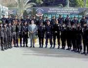 کراچی: اے آئی جی سیکیورٹی سپیشل یونٹ مقصود احمد کا آرمی یونٹ جہلم سے ..