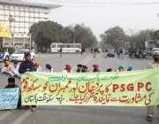 لاہور: سکھ سنگت پاکستان کے زیر اہتمام سکھ اپنے مطالبات کے حق میں مال ..