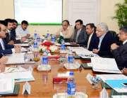 اسلام آباد: وفاقی وزیر پانی و بجلی خواجہ آصف بجلی کے منصوبوں کی پیش ..