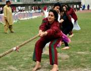 لاہور: پنجاب سٹیڈیم میں جی سی یونیورسٹی کے زیر اہتمام سپورٹس مقابلوں ..