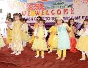 مظفر آباد: یوم پاکستان کے حوالے سے تقریب میں مونٹیسوری کی طالبات ٹیبلو ..