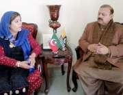 اسلام آباد: کشمیر پی ٹی آئی کے صدر بیرسٹر سلطان محمود چوہدری سے پی ٹی ..