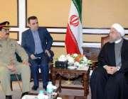 اسلام آباد: آرمی چیف جنرل راحیل شریف ایران کے صدر حسن روحانی سے ملاقات ..