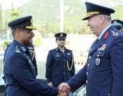 اسلام آباد: پاک فضائیہ کے سربراہ سہیل امان، ترک کمانڈر جنرل عابدین ..