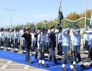 اسلام آباد: ترک کمانڈر جنرل عابدین اونل ائیر ہیڈ کوارٹرز کے دورہ کے ..