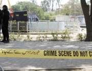 لاہور: گلشن اقبال پارک میں خود کش دھماکے کے دوسرے روز پولیس کی جانب ..