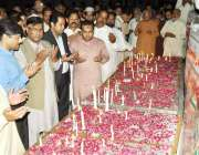 قصور: ڈی سی سلمان غنی اور دیگر ریلوے اسٹیشن کے سامنے سانحہ گلشن اقبال ..