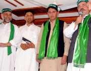 پشاور: پاکستان مسلم لیگ (ق) کے صوبائی صدر انتخاب خان چمکنی ایم ایس ایف ..