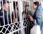 لاہور: جناح ہسپتال میں پاکستان پیپلز پارٹی کے چیئرمین بلاول بھٹو زرداری ..
