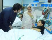 لاہور: پاکستان پیپلز پارٹی کے چیئرمین بلاول بھٹو زرداری جناح ہسپتال ..