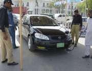 لاہور: پنجاب اسمبلی کے اجلاس کے موقع پر اہلکار کسی بھی ناخوشگوار واقع ..