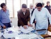 لاہور: وزیر محنت پنجاب راجہ اشفاق سرور ورکرز ویلفیئر سیکنڈری سکول (بوائز) ..
