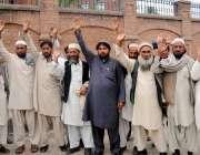 پشاور: باڑہ خیبر ایجنسی کے متاثرین اپنے مطالبات کے حق میں احتجاج کر ..