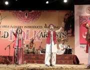 اسلام آباد: لوک ورثہ کے زیر اہتمام (ثائلڈ فولک آرٹسٹ) کے عنوان سے منعقدہ ..