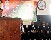 پشاور: ذوالفقار علی بھٹو کی برسی کے موقع پر پیپلز لائرز فورم کے صوبائی ..