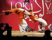 اسلام آباد: لوک ورثہ کے زیر اہتمام منعقدہ2016کے سالانہ لوگ میلہ کے دوران ..