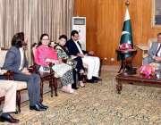 اسلام آباد: صدر ممنون حسین سے ینگ پارلیمنٹیرین فورم (YPF ) کا وفد ایوان ..