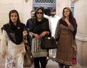 لاہور: خواتین اراکین پنجاب اسمبلی کے اجلاس میں شرکت کے بعد واپس جا رہی ..