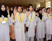 راولپنڈی: گورنمنٹ وقارالنساء کالج میں سٹوڈنٹس کونسل کی تقریب حلف برداری ..