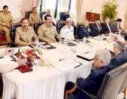 اسلام آباد: وزیر اعظم محمد نواز شریف کابینہ کی قومی سلامتی کمیٹی کے ..