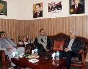 اسلام آباد: وزیر اعلیٰ گلگت بلتستان حفیظ الرحمن اور وزیر امور کشمیر ..