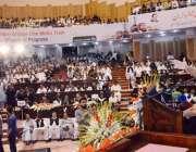 لاہور: وزیر اعلیٰ پنجاب محمد شہباز شریف اورنج لائن میٹرو ٹرین منصوبے ..