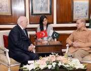 لاہور: وزیر اعلیٰ پنجاب محمد شہباز شریف اور ترکی کی گرینڈ نیشنل اسمبلی ..