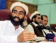 پشاور: متحدہ ایکشن کونسل کوہستان دیر بالا کے کنوینر حضرت سید گجر پریس ..