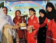 پشاور: ڈائریکٹر جنرل سپورٹس رشیدہ غزنوی فاتح کھلاڑیوں میں انعامات ..