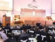 اسلام آباد: ریکٹرنسٹ انجینئر محمد اصغر 25سالہ تقریب سے خطاب کر رہے ہیں۔