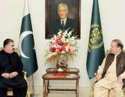 اسلام آباد: وزیر اعظم محمد نواز شریف سے وزیر اعلیٰ بلوچستان سردار ثناء ..