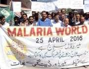 مظفر آباد: عالمی ملیریا ڈے کے موقع پر عوام میں شعود پیدا کرنے کے لیے ..