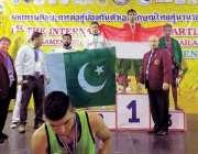 ایبٹ آباد: تھائی لینڈ میں منعقدہ انٹر نیشنل تھائی کک باکسنگ ٹورنا منٹ ..