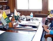 مظفر آباد: ڈپٹی اسپیکر شاہین کوثر ڈار سے معروف تجزیہ کار نذیر لغاری ..