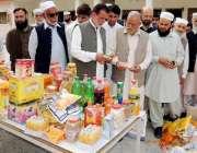 ایبٹ آباد: خیبر پختونخوا کے وزیر خوراک حاجی قلندر خان لودھی دوران چیکنگ ..
