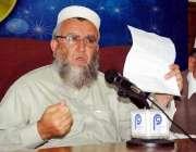 پشاور: مہمند ایجنسی کے قبائلی مشران ملک باغی شاہ پریس کانفرنس سے خطاب ..