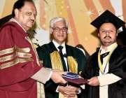 اسلام آباد: صدر ممنون حسین ورچوئل یونیورسٹی کے ساتویں کانووکیشن کے ..